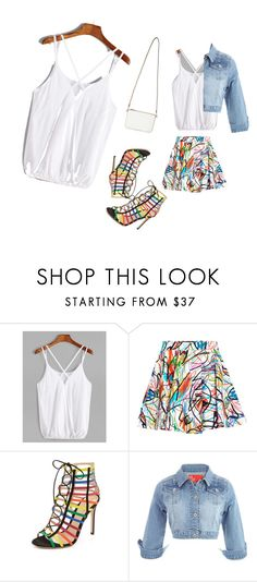 """""""White top"""" by amela83 ❤ liked on Polyvore featuring Jeremy Scott, Mary Katrantzou and Miss Selfridge"""