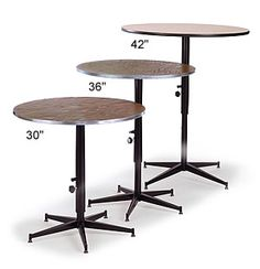 Exceptional Tri Height Cocktail Tables | Midwest Folding
