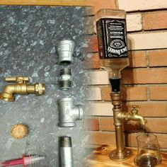 Utilitarian liquor dispenser