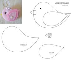 1 million+ Stunning Free Images to Use Anywhere Paper Birds, Felt Birds, Fabric Birds, Bird Applique, Applique Quilts, Free Motion Embroidery, Embroidery Patterns, Iris Paper Folding, Felt Crafts Patterns