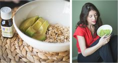 DIY Stress Relievers - Avocado and oats face mask