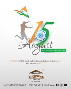 """Freedom in the mind, faith in the words, pride in our Souls. Lets salute the Nation. Happy Independence Day Quotes, Independence Day Poster, 15 August Independence Day, Independence Day Wallpaper, Indian Independence Day, Creative Poster Design, Ads Creative, Happy 15 August, Indipendence Day"