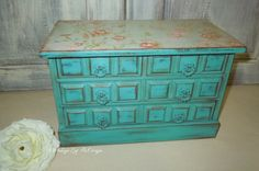 Hey, I found this really awesome Etsy listing at https://www.etsy.com/listing/250411035/teal-vintage-cottage-hand-painted