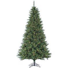 Fraser Hill Farm 9-foot Green Plastic/Metal Pine Christmas Tree with Smart String Lighting (Green)