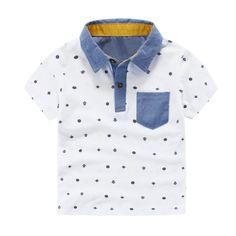 Summer Boys Short Sleeve T-Shirts Printed T Shirt Kids Tops Tees Camisa #Affiliate
