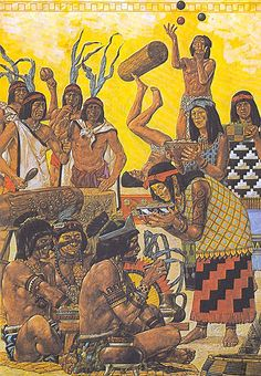 """""""Reunión de la nobleza azteca"""" Ancient Aztecs, Ancient Symbols, Ancient Civilizations, Maya, South American Art, Native American, Aztecas Art, Aztec Empire, Aztec Culture"""