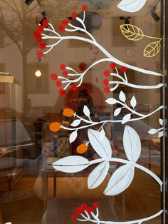 Autumn Window Display Retail, Painted Window Art, Dandelion Wallpaper, Window Mural, Christmas Window Decorations, Halloween Window, Flower Window, Spring Painting, Christmas Art