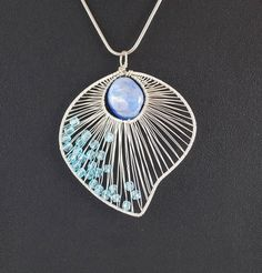 Silver pendant with Nacre / wire wrapped / without by AnnaPdesign