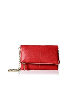 Zenith Women's Small Flap Cross-Body with Chain Strap, Red As You See