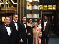 At the Savoy, to collect the Britain's Best Rural Hotel of the Year Award