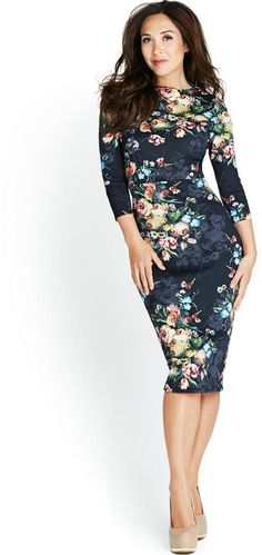Very Myleene Klass Floral Print Scuba Midi Dress on shopstyle.co.uk