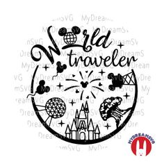 World Traveler Disney World Svg Dxf Eps Png Jpg Cutting File Disney Diy, Disney Crafts, Disney Love, Anna Disney, Disney Bound, Walt Disney, Disney Scrapbook, Travel Scrapbook, Scrapbooking