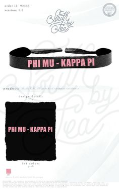 Phi Mu | Phi Mu Croakies | Sorority Croakies | Black and Pink Croakies | Sorority Gift Ideas | Big Little Gift Ideas | South by Sea | Sorority Shirts | Sorority Tanks | Greek Shirts
