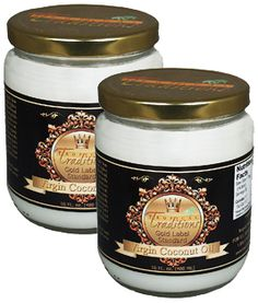 Image of Gold Label Virgin Coconut Oil - 16 oz. Tropical Traditions offers a 100% satisfaction guarantee on the 16 oz trial size of our Gold Label Virgin Coconut Oil.