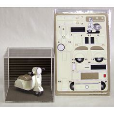 Scooter Postcard, Cut-Out Model A great way to send a note to a scooterist! – Scooter Postcard, Cut-Out Model Image from Scooterworks Paper Model Car, Paper Car, 3d Paper, Paper Models, Paper Toys, Paper Crafts, Cardboard Crafts, Origami Love, Origami Folding