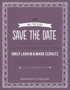 The Photo Fairy Tale save the date card is part of a fully customizable wedding invitation set. Choose  from over 160 different colors.