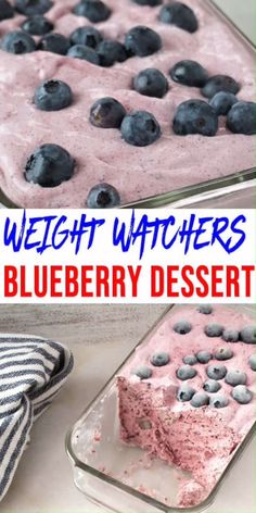 No NEED to spend hours baking a Weight Watchers dessert recipe when you can make this delicious & easy blueberry fluffy! Check out this NO BAKE frozen blueberry Weight Watchers dessert. Weight Watcher Desserts, Weight Watchers Snacks, Weight Watcher Dinners, Weigh Watchers, Weight Watchers Plan, Weight Watchers Freezer Meals, Weight Watchers Cheesecake, Weight Watchers Muffins, Beaux Desserts