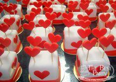 Mini Bolos Individual Wedding Cakes, Mini Cakes, Sugar, Cookies, Sweet, Desserts, Food, Art Cakes, Sweets