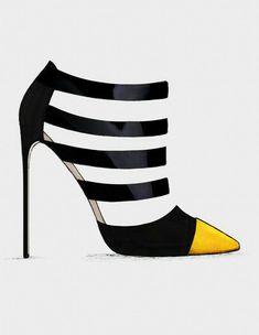Two-toned high heels www.ScarlettAvery.com