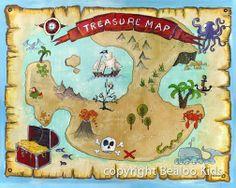 #Pirate Treasure #map #art