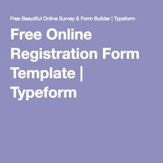 Free Online Registration Form Template | Typeform
