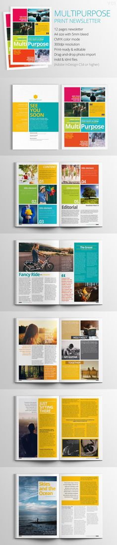 #magazine #design from h.utomo | DOWNLOAD: https://creativemarket.com/hermin.utomo/426162-Multipurpose-Print-Newsletter?u=zsoltczigler