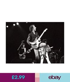 Posters Dire Straits Mark Knopfler On Stage Bw Poster #ebay #Collectibles