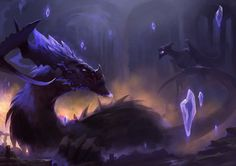 Amethyst Dragon, Sébastien Brunet on ArtStation at https://www.artstation.com/artwork/amethyst-dragon