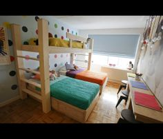 bedroom ideas for triplets | Bedroom for Triplets in Midtown Manhattan | Photos | HGTV Canada