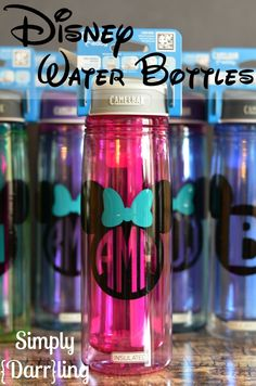 Personalized Disney Water Bottles - a must have for any Disney trip.