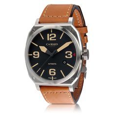 5413c6b3dfb Swiss Made Christopher Ward C11 MSL Vintage Edition Aviator automatic watch  with leather strap Ure Til