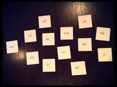 the reverse of each character card had pingying, which serves for pronunciation purposes