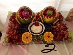 Twins baby shower fruit platter