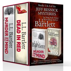 Boxed set; Books 1 and 2 of the Jeff Resnick Mysteries; Murder On The Mind and Dead In Red.