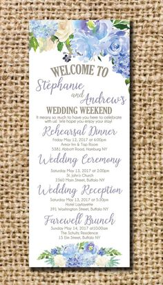 Wedding Itinerary for Hotel Bags by CamilleMonacoDesigns on Etsy Wedding Planning On A Budget, Budget Wedding, Wedding Themes, Wedding Tips, Wedding Cards, Wedding Favors, Wedding Ceremony, Wedding Speeches, Wedding Programs