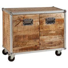Reclaimed Wood and Metal Sideboard