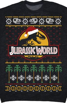 Jurassic World Christmas Sweater: Jurassic World Mens Sweatshirt