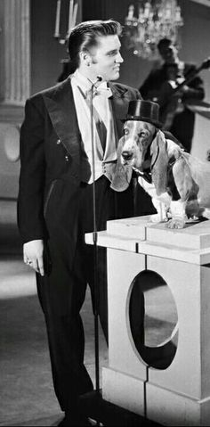 """Elvis and his """"Hound Dog"""""""