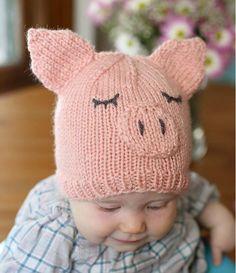 This Little Piggy Went Home Baby Hat | AllFreeKnitting.com