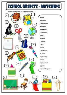School objects - Stationery | Teaching Infants | Pinterest ...