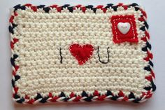 crochet valentine free pattern ❥Teresa Restegui http://www.pinterest.com/teretegui/❥
