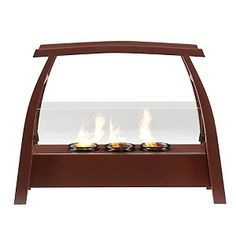 Ashton Portable Indoor/Outdoor Gel-Fuel Fireplace at HSN.com.