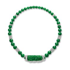 Jadeite and Diamond Necklace   Lot   Sotheby's 1,720,000