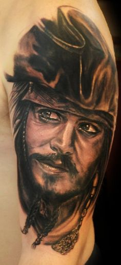Jack sparrow tattoos on pinterest sailor jerry sailor for Captain jack sparrow tattoo