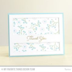 STAMPARADISE: MFT January Card Kit (Beautiful Blooms Stamp Set) - Thank You card