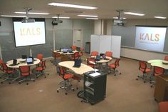 University of Tokyo - The University of Tokyo created Komaba Active Learning Studio (KALS) as a model classroom on the university's Komaba campus in 2007. Equipped with state-of-the-art information communication technology, Wireless projectors can project different images onto four screens at the same time, and four different images can be shown on each screen, so up to sixteen students can display their work simultaneously
