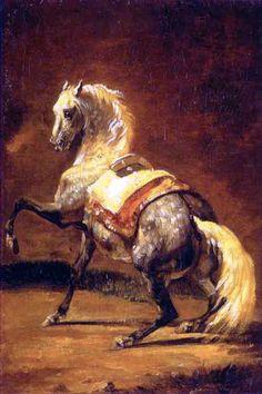 """Grey Dapple Horse"" by Theodore Gericault"