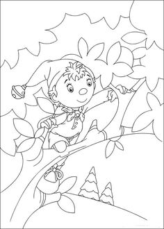 Noddy Coloring Pages 22 Online Coloring Pages, Printable Coloring Pages, Colouring Pages, Coloring Books, Winnie, Art Pages, Coloring Pages For Kids, Applique, Cross Stitch
