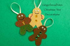 gingerbread men christmas tree decorations.