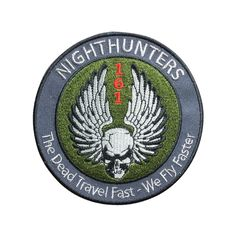 Nighthunters Patch Embroidered Air Force Military Patch Iron on Patch Sew on Patches